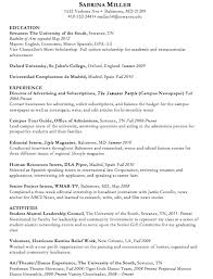 example resumes write up a resume