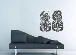 nz art decals hei tiki image on wall art decals nz with nz art hei tiki grafix wall art
