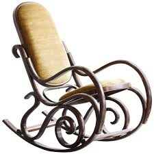 thonet style bentwood rocking chair 1