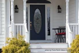 beautiful front door on front porch