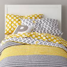 kids bedding grey yellow p the land of nod and white baby crib chevron kid y