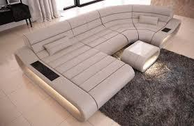 image of large u shaped sofa
