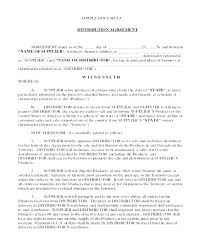 Distributor Agreement Template Canada Distribution Agreement