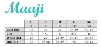 B Swim Size Chart Maaji Size Chart South Beach Swimsuits