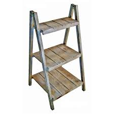 Wooden Light Stand Shop Cheungs 38 In Light Grey Rectangular Wood Plant Stand At