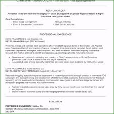 Retail Store Manager Resume Template Incomparable Retail