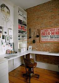 image cool home office. Interesting Image Small Roundup Cool Home Office With Brick Walls Inside Image O
