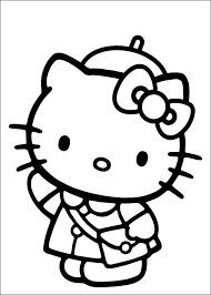 A kitten is going to sleep. Hello Kitty To Color For Kids Hello Kitty Kids Coloring Pages