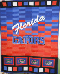 130 best College/NFL Quilts images on Pinterest | Quilt block ... & One of our new team designs, a University of Florida Gator sports quilt  incorporating machine Adamdwight.com