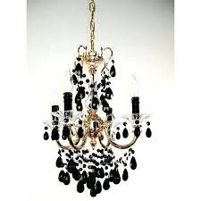 black and gold chandelier classic lighting via gold plate four light mini chandelier with black crystal accents black gold chandelier lamp shades