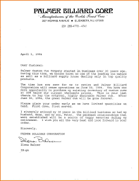 Company Business Letter Formal Business Letter From A Company Letters Free Sample Letters 1