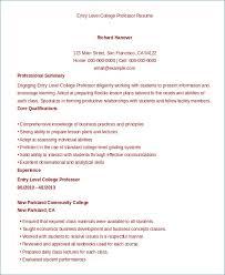 College Professor Resume Sample Free Resume Layout Com