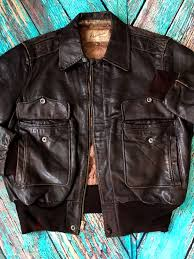 vintage1940 s hercules sears brown horsehide leather jacket made in usa 40 ch