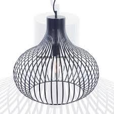 Zwart Metalen Draadlamp Aglio ø 48 Cm