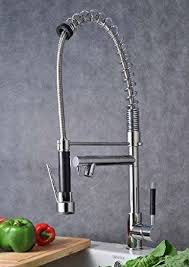 Single Handle Pull Down Pre rinse Spring Kitchen Faucet with Two