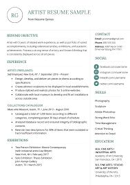 Job Application Portfolio Example Resume Artistume Sample Writing Guide Genius Free It