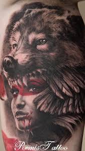 Tetování Vlčí žena My Free World