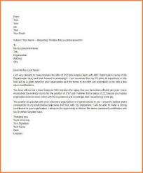 salary counteroffer letter salary negotiation counter offer letter sample template optional
