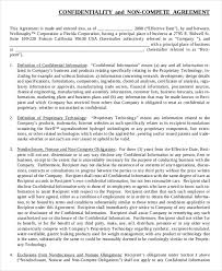 Noncompete Clause 11 Business Non Compete Agreement Templates Free Sample Example