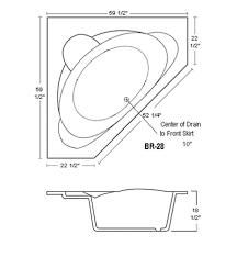 corner bathtubs dimensions | American Acrylic Corner Oval Whirlpool/Air Jet  Tub with Seat BR