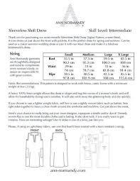 Sleeveless Shift Dress Pdf Sewing Pattern Ropa Linen