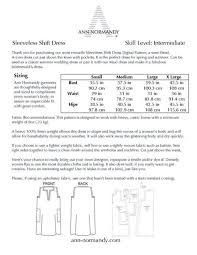 Linen Weight Chart Sleeveless Shift Dress Pdf Sewing Pattern Ropa Linen
