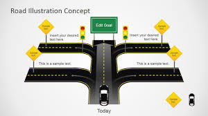 road map powerpoint template free traffic road powerpoint template design with road cross