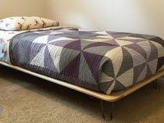Nina's Custom Built Bed with Hairpin Legs