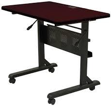 rolling desk table puter desk rollingghantapic computer table on wheels office