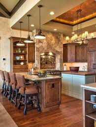 astonishing 3 rustic pendant lighting for kitchen island with sink featuring 4 tall black chairs with cushion