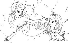 Small Picture 10 Sofia the First Mermaid Coloring Pages Uncategorized printable