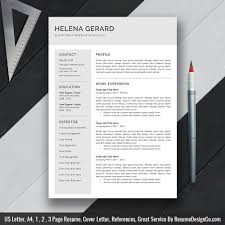 Resume Template Word Resume Cv Template Creative And Teacher
