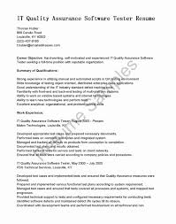 Resume Format For Software Testing Fresher Awesome Qtp Automation
