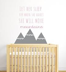let her sleep for when she wakes nursery wall decals quote nursery wall decal  on wall decal quotes for nursery with amazon let her sleep for when she wakes nursery wall decals