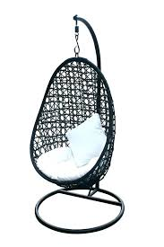 egg hammock chair outdoor hanging swing contemporary chairs medium synthetic wicker nz