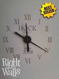 roman numbers clock wall decals vinyl
