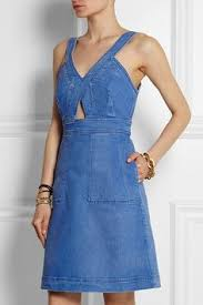 <b>SJYP</b> - Flared denim mini dress | Denim | Джинсы и Наряды