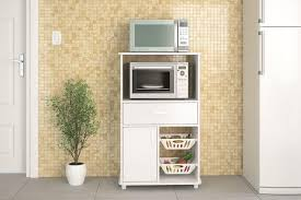 Image Cabinet Organizers Boahaus Kitchen Storage Cabinet White Drawer And Microwave Stand