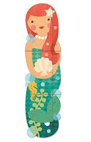 Petit Collage Folding Growth Chart Little Miss Mermaid