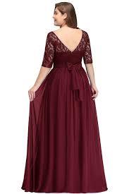 Plus Size Bridesmaid Designers Floor Length Lace Plus Size Bridesmaid Dress Eternally