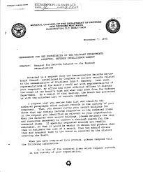 Jfkcountercoup Nov 7 1995 Memo For Secretaries Of The Military