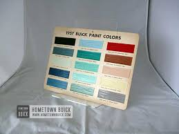 1957 Buick Color Chart Hometown Buick