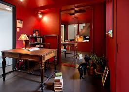 red home office. View In Gallery Asian-eclectic Home Office With Plenty Of Red [Design: Deco-Te] .