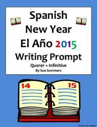 best spanish writing images spanish classroom  spanish new year writing prompt and essay translation querer infinitive