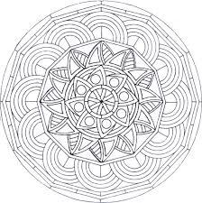 Coloriage Mandala Fleur Gratuit
