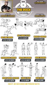 Chest Workout Chart Step By Step Dwayne Johnson Chest Workout Chest Workouts Shoulder