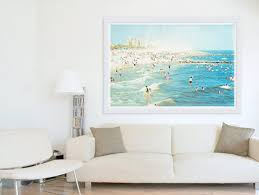beach wall decor for living room ideas artland hand painted framed art artwork prints uk wall