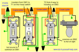 4 way switch wiring diagrams do it yourself help com 2 Light Switch Wiring Diagram wiring diagram 4 way switch, source first wiring diagram 2 way light switch