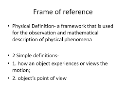 frame of reference n