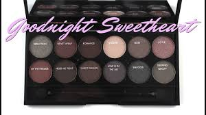sleek i divine goodnight sweetheart palette review swatches
